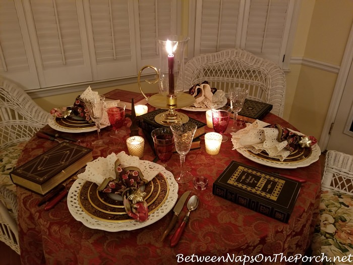 Cozy Candlelight Winter Tablescape