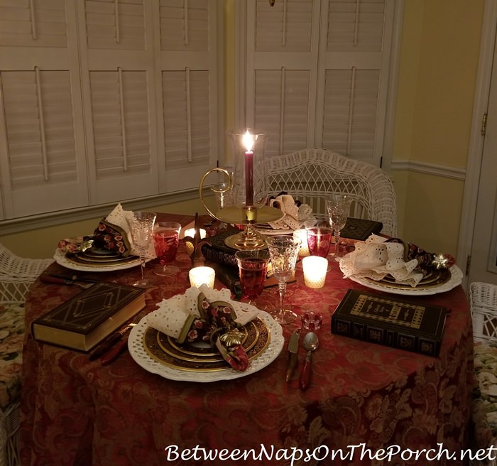 Cozy Winter Table Setting, Book Club