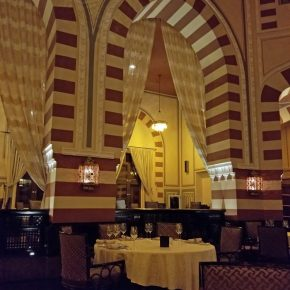 Dinner in the 1902 Restaurant, Old Cataract Hotel, Aswan Egypt
