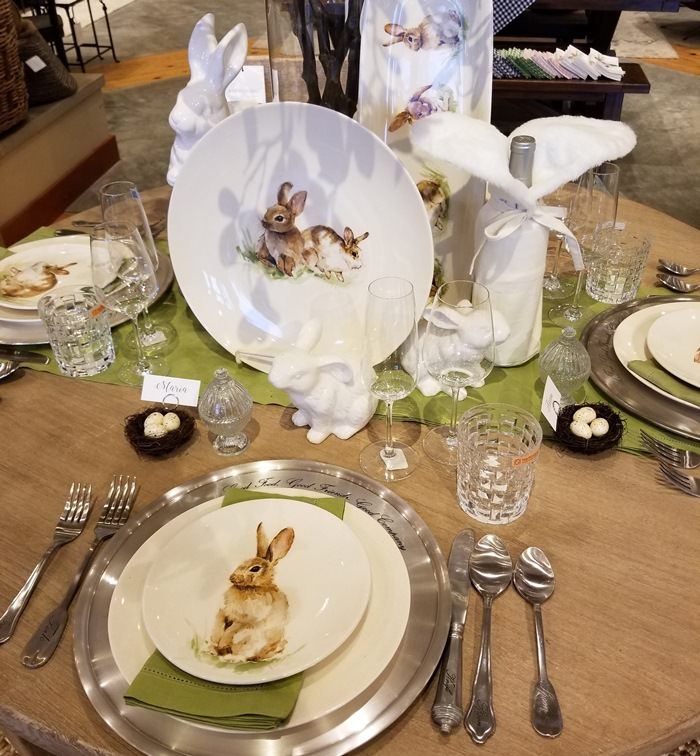 Easter Table Setting Ideas, Bunny Dinnerware