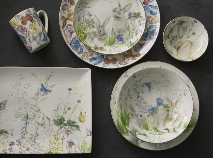 Floral Dishware for Easter