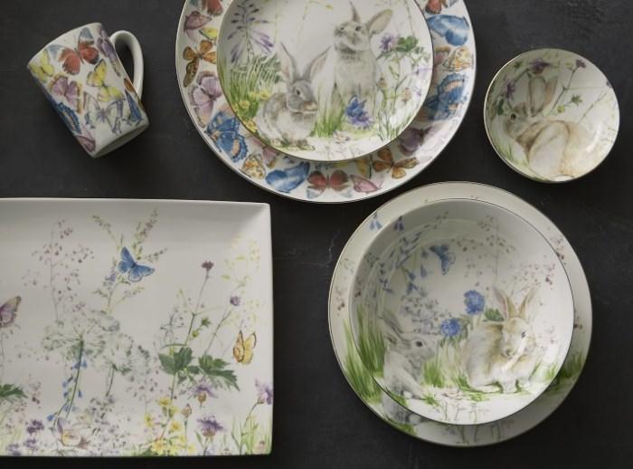 Floral Dishware for Easter