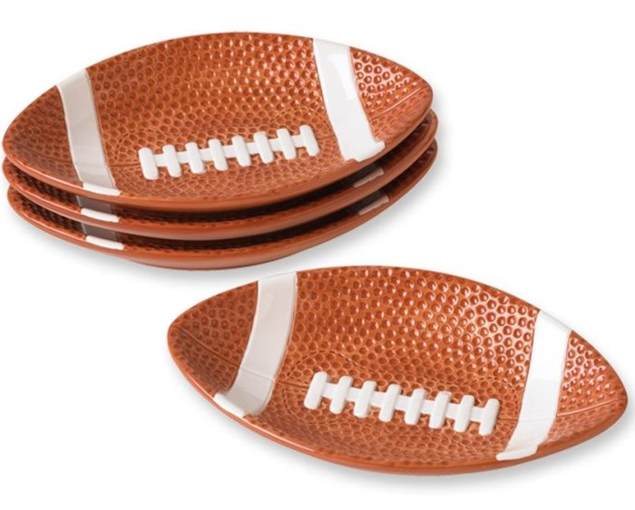 Football Plates for Game Day Dining or Super Bowl Party