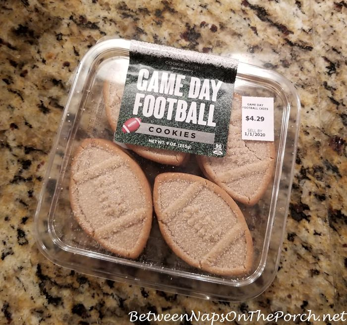 Football Shaped Cookies for a Super Bowl Party