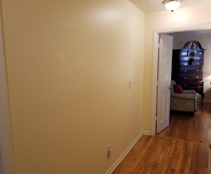 Hallway outside master bedroom