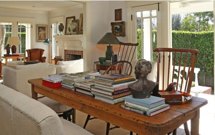 Library Dining Room in George Peppard's Hollywood Home