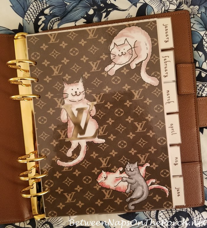 Louis Vuitton Grace Coddington Inspired Agenda Page Dashboard