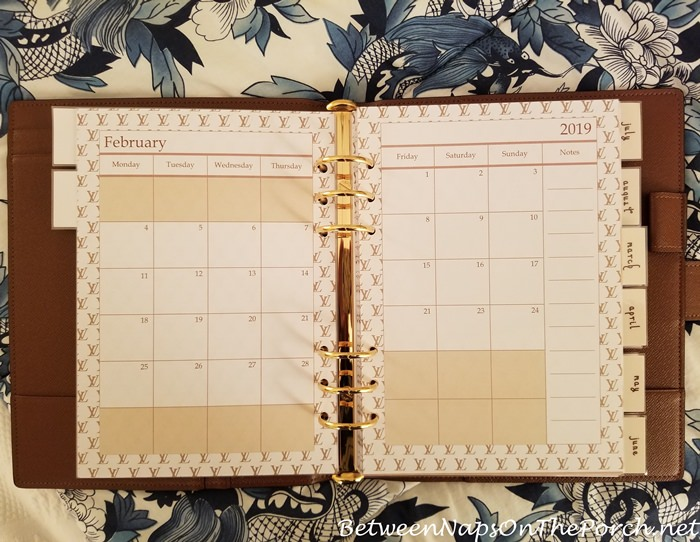 Louis Vuitton Inspired Agenda Calendar Pages