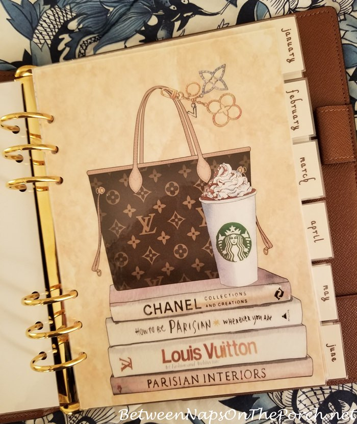 Louis Vuitton Inspired Agenda Page Dashboard