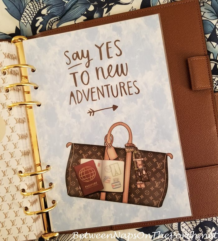 Louis Vuitton Inspired Travel-themed Page for Agenda