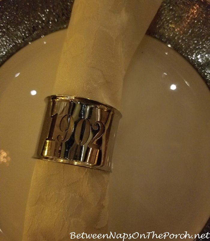Napkin Ring, 1902 Restaurant, Old Cataract Hotel, Aswan Egypt