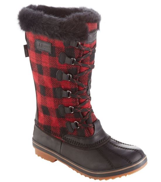 Red Check Boots, L.L.Bean