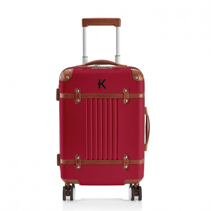 Red Vintage Style Carryon bag