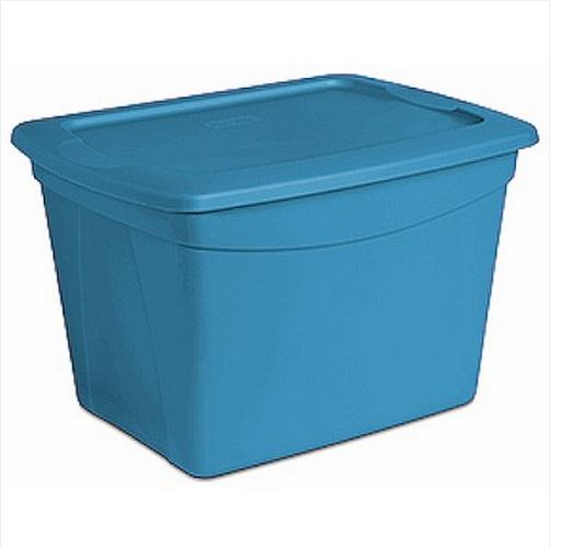 Storage bin in blue