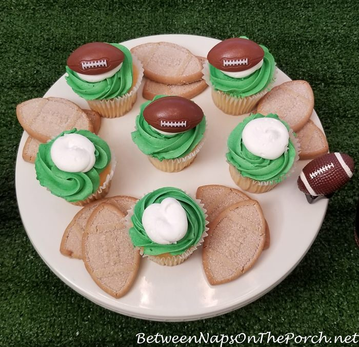 Super Bowl Party Cupcakes and Cookies