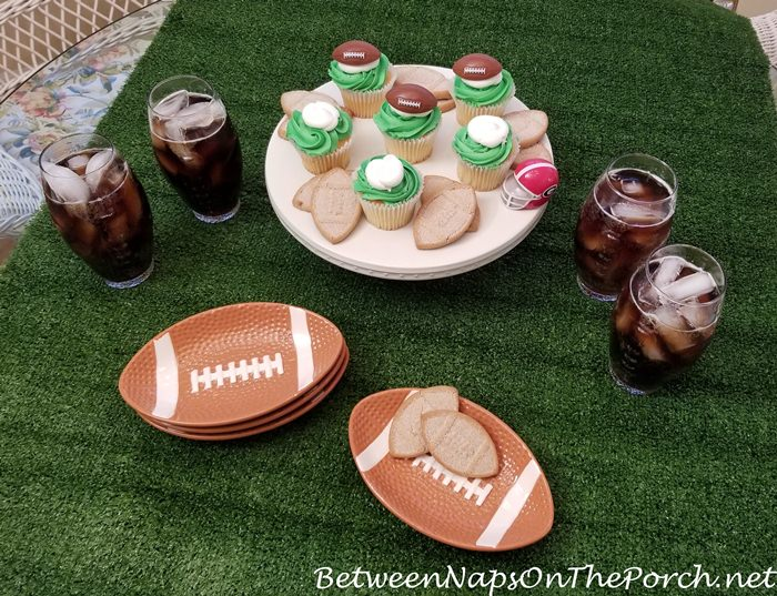 Super Bowl Party, Football Plates, Football Glasses