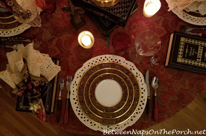 Winter Table Setting Idea, Candlelight Dinner