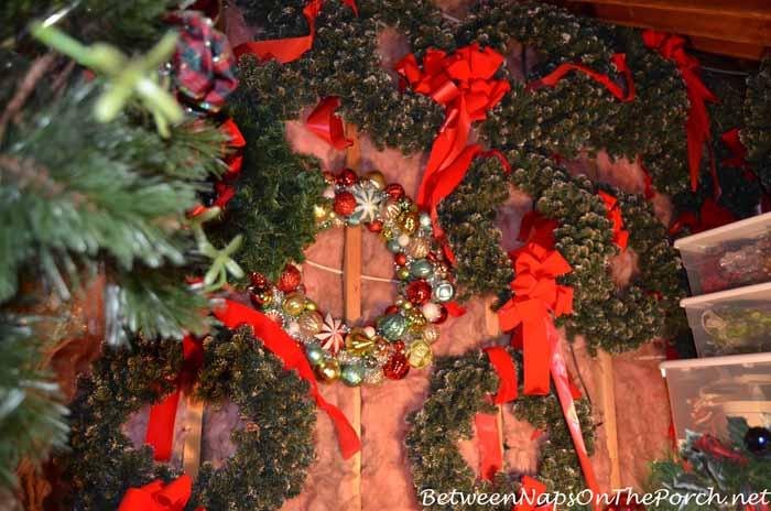 Wreath Storage Under Eaves
