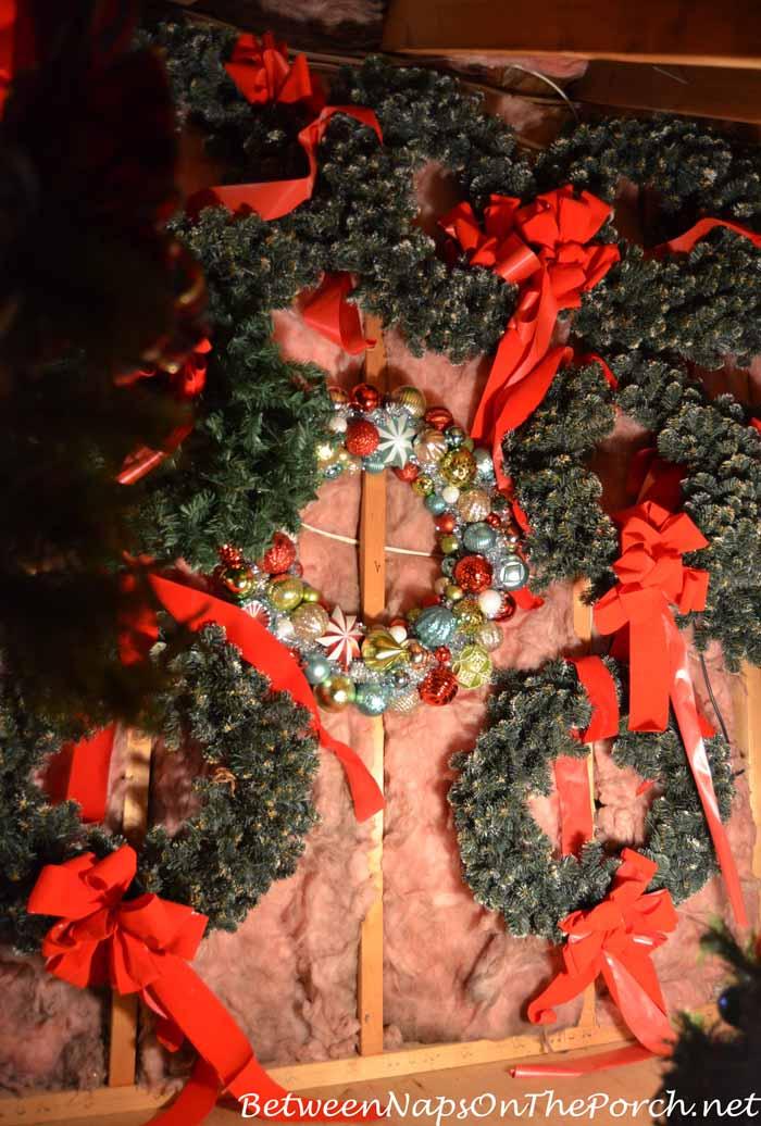 Wreath Storage Under the Eaves