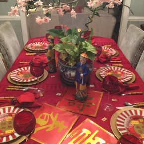 A Chinese New Year Celebration Table Setting