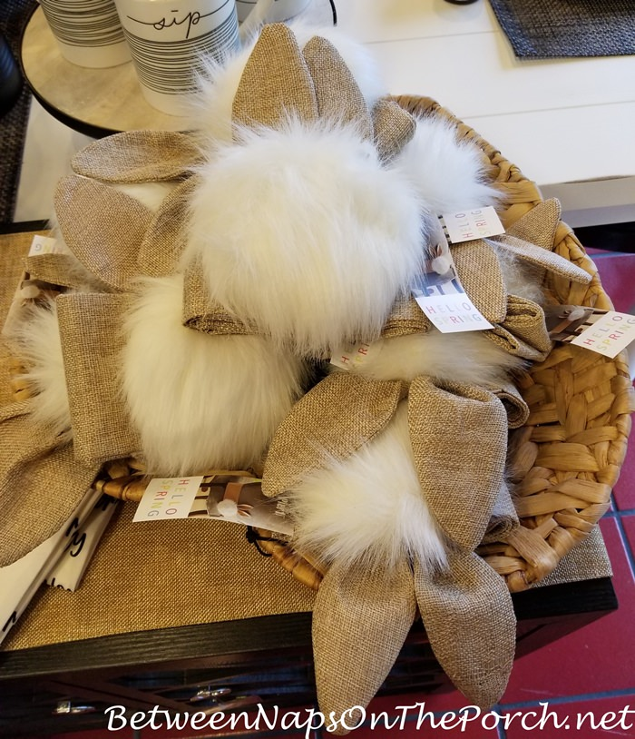Bunny tails for decorating backs of chairs for Easter