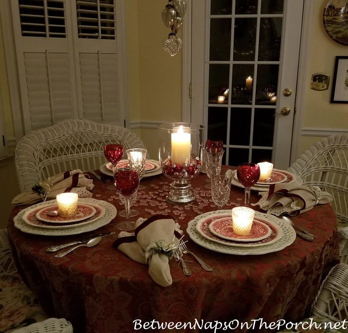 Candlelight Valentine's Day Table