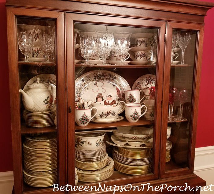 Christmas China Storage, China Cabinet