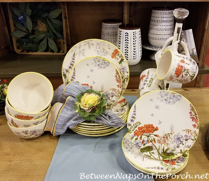 Garden-themed dinnerware