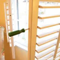 How To Tighten Or Repair Loose Louvers On Interior Plantation Shutters