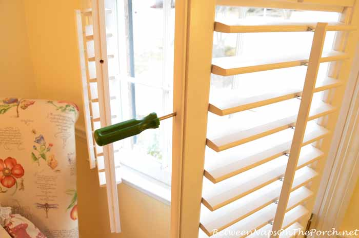 How To Stop Louvers From Sagging On Interior Plantation Shutters