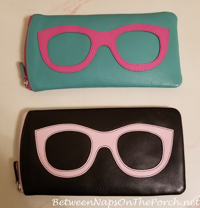 Leather Ice Glasses Cases, Fits Smaller Handbags