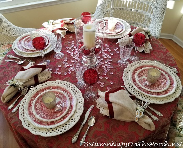 Romantic Tablescape for Valentine's Day