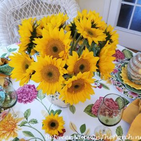 Sunflower Centerpiece for Table Setting