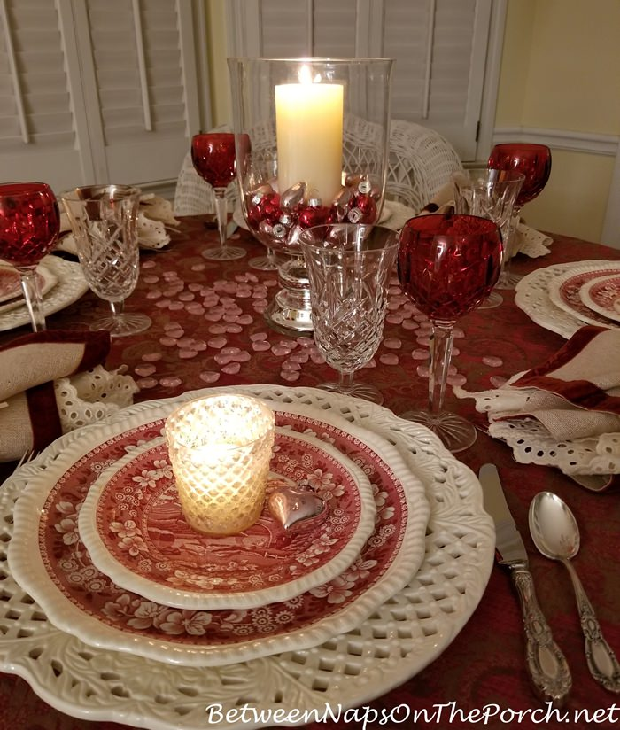 Valentine's Day Table Setting, Candlelight