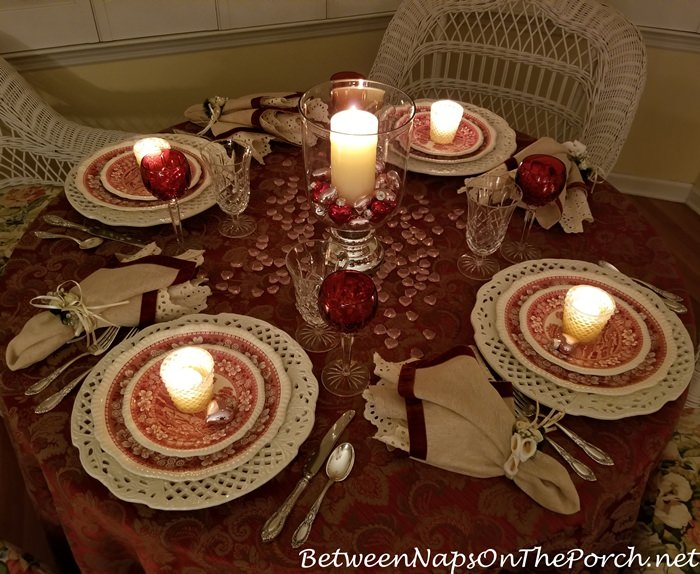 Valentine's Day Tablescape by Candlight