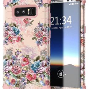 Beautiful floral pink phone case