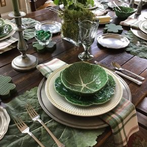 Cabbage Leaf Placemats for a St. Patrick's Day Table Setting