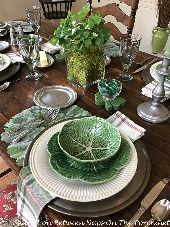 Cabbage Leaf Plates and Bowls