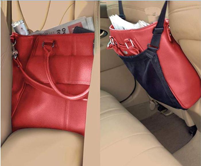 Car Handbag Holder fits large bags too.