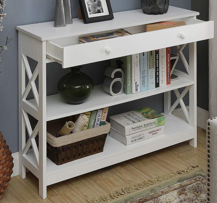 Console Table with Drawer Storage