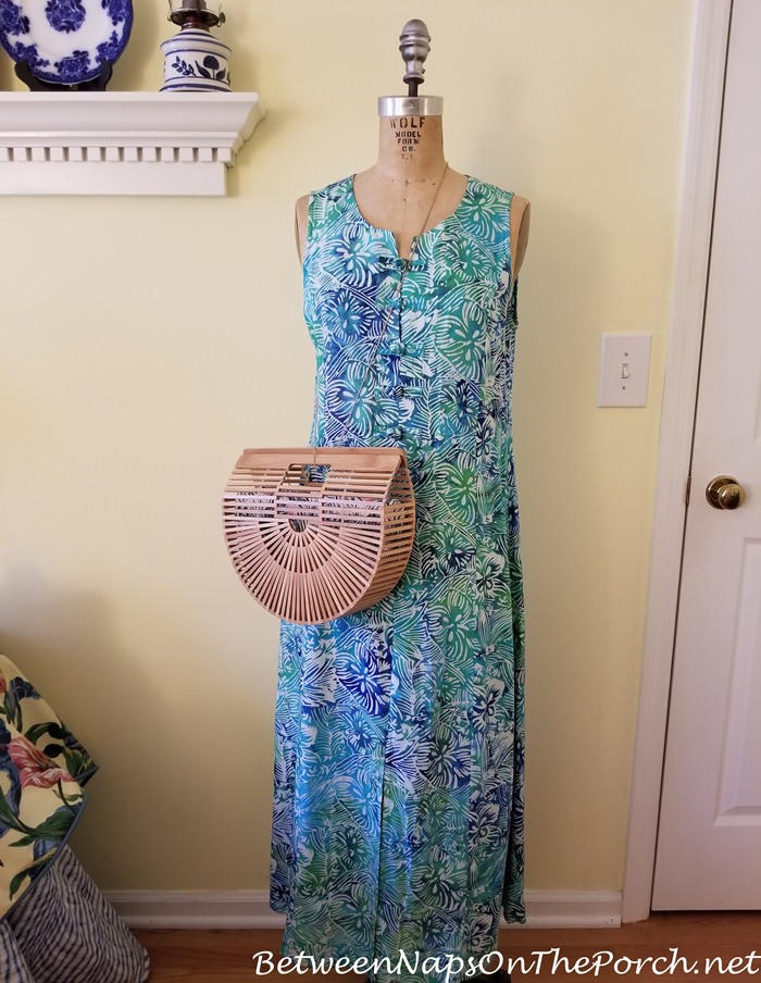 Cult Gaia Style Arc Bag paired with Maxi Dress