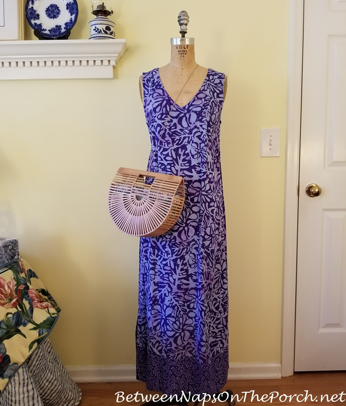 Cult Gaia Style Arc Bag with Maxi Dress