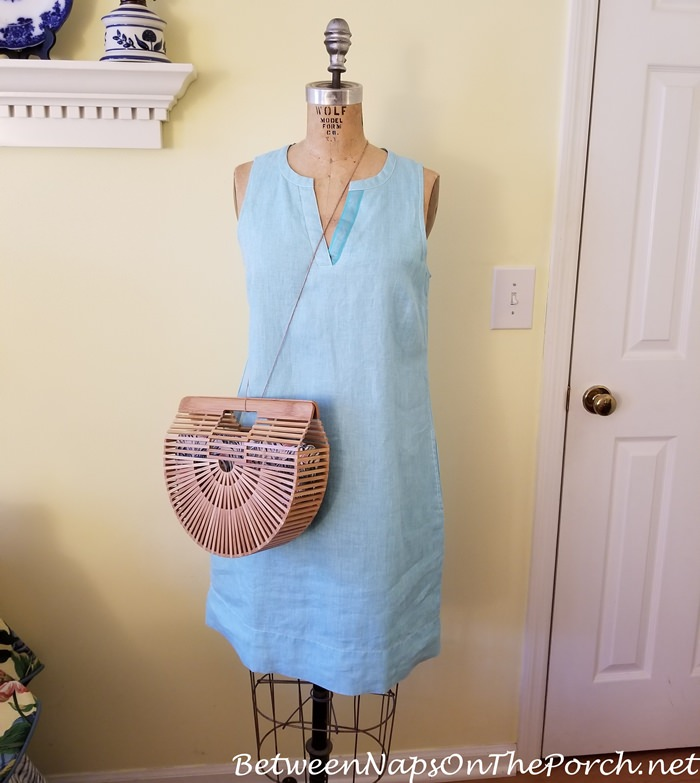 Cult Gaia Style Style Bag, Linen Shift Dress from Tommy Bahama