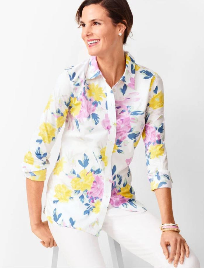 Floral Cotton Shirt on Sale