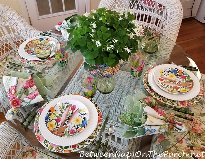 Floral Spring Table, Between Naps On The Porch Blog