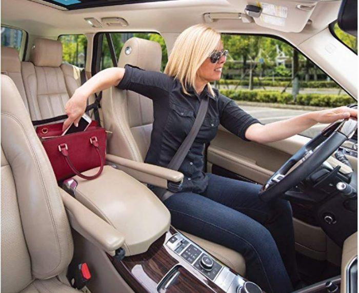 Handbag Holder for Car keeps handbag within easy reach