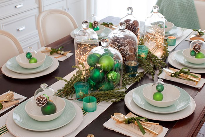 Jillian Harris's Christmas Table Dining Room