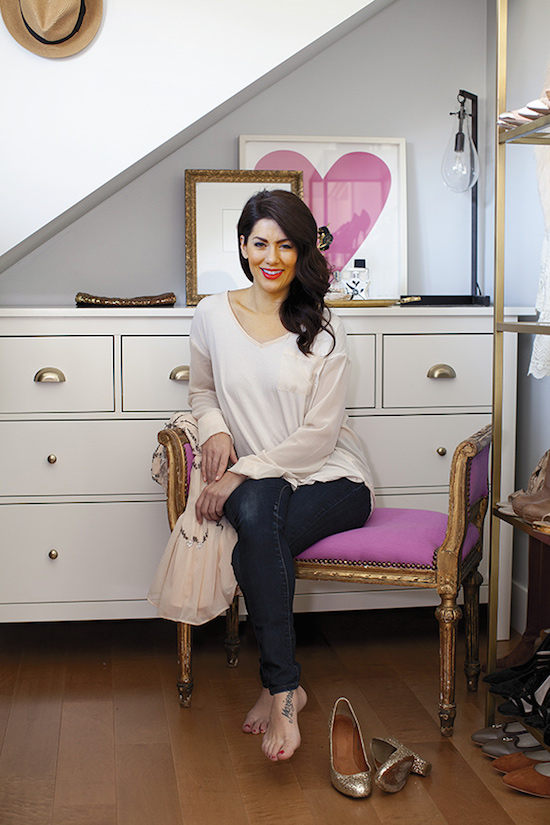 Jillian Harris's Closet and Dressing Room Vancouver Home