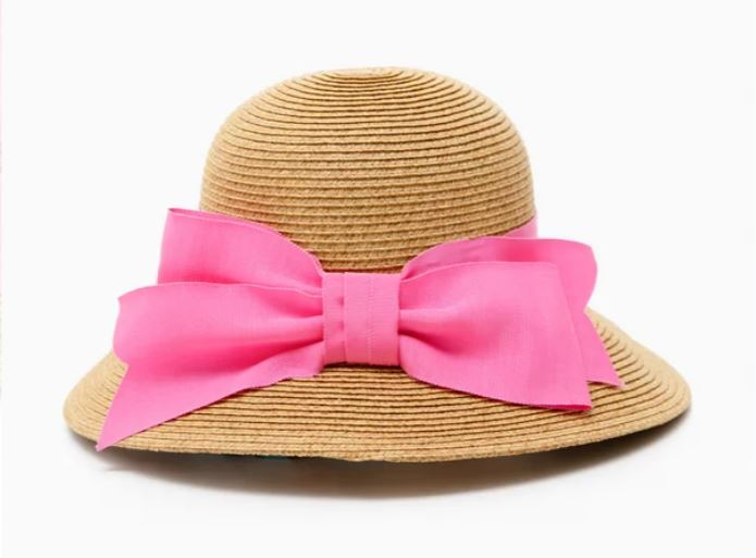 Pink Bow Sun Hat