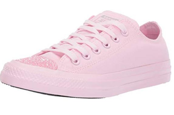 Pink Converse with Glitter